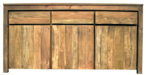 Recycled Teak Wood Solo Buffet 3 Doors 3 Drawers - La Place USA Furniture Outlet