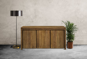Recycled Teak Solo Buffet 3 Doors - La Place USA Furniture Outlet