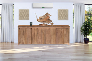 Recycled Teak Wood Solo Buffet 4 Doors - La Place USA Furniture Outlet