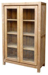 Recycled Teak Wood Solo Cupboard / Bookcase - La Place USA Furniture Outlet