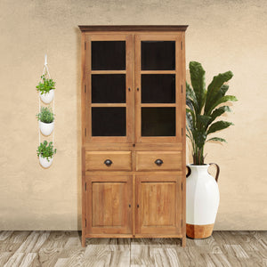 Recycled Teak Wood Bali Cupboard Small - La Place USA Furniture Outlet