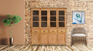 Recycled Teak Wood Bali Cupboard Large - La Place USA Furniture Outlet
