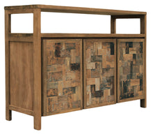 Recycled Teak Mozaik Buffet 3 Wooden Doors-Chic Teak