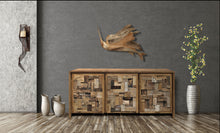 Recycled Teak Wood Mozaik Media Center / Chest with 3 Doors - La Place USA Furniture Outlet