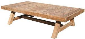 "Recycled Teak Wood Coffee Table - 55"" x 30"" - La Place USA Furniture Outlet"
