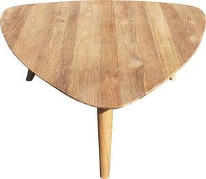 Recycled Teak Wood Retro Coffee Table - La Place USA Furniture Outlet