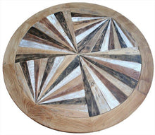 Round Recycled Teak Coffee Table - La Place USA Furniture Outlet