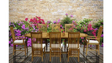 9 Piece Oval Teak Wood Balero Table/Chair Set With Cushions - La Place USA Furniture Outlet