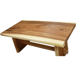 "Suar Live Edge Unique Slab Dining Table - 71"" Long (choice of table tops) - La Place USA Furniture Outlet"