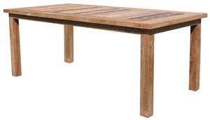 "Recycled Teak Wood Tuscany Dining Table - 79"" x 40"" - La Place USA Furniture Outlet"