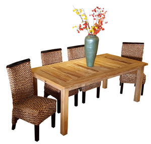 "Recycled Teak Wood Dining Table - 71"" x 36"" - La Place USA Furniture Outlet"