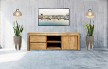 Recycled Teak Wood Solo Media Center, 2 Drawer  1 Cabinet - La Place USA Furniture Outlet