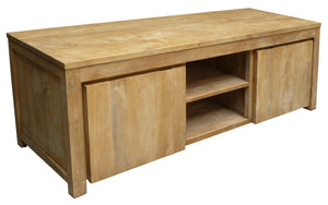 Recycled Teak Solo Media Center, 2 Door - La Place USA Furniture Outlet