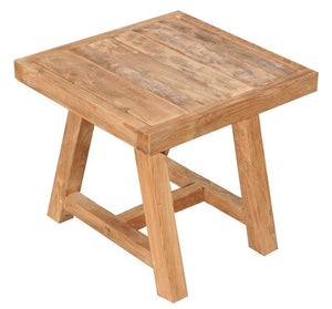 Recycled Teak Wood End Table - La Place USA Furniture Outlet