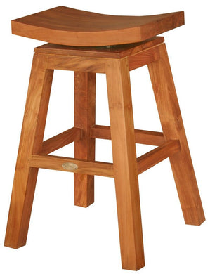 Teak Wood Vessel Counter Stool - La Place USA Furniture Outlet