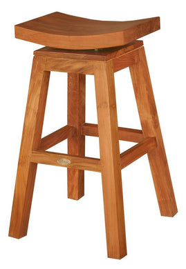 Teak Wood Vessel Barstool - La Place USA Furniture Outlet