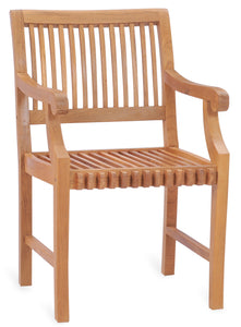 Teak Wood Castle Arm Chair - La Place USA Furniture Outlet