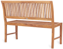 Teak Wood Castle Bench without Arms, 4 ft - La Place USA Furniture Outlet