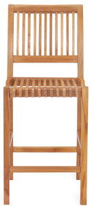 Teak Wood Castle Barstool - La Place USA Furniture Outlet