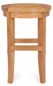 Teak Wood Santiago Round Counter Stool, 24 inch - La Place USA Furniture Outlet