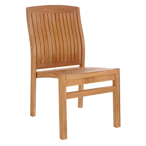 Teak Wood Belize Stacking Side Chair