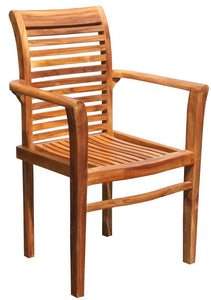 Teak Rio Stacking Chair-Chic Teak