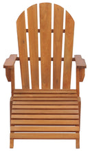 Teak Wood Adirondack Chair With Footstool - La Place USA Furniture Outlet