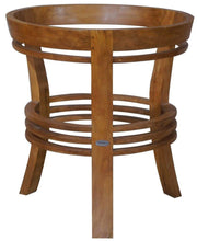 Waxed Teak Wood Half Moon Dining Table - La Place USA Furniture Outlet