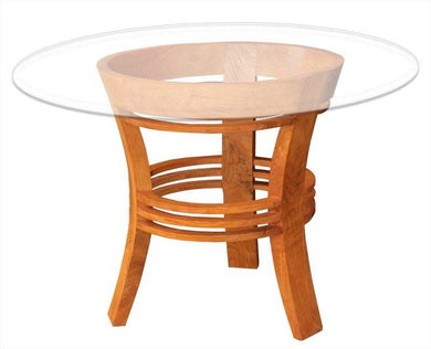Waxed Teak Half Moon Dining Table - La Place USA Furniture Outlet