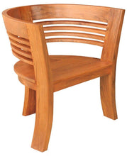 Waxed Teak Half Moon Dining Chair - La Place USA Furniture Outlet