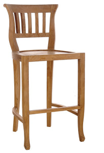 Teak Wood Amsterdam Counter Stool - La Place USA Furniture Outlet