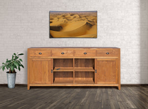 Waxed Teak Wood Rhone Buffet - La Place USA Furniture Outlet