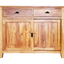 Waxed Teak Wood Rhone Buffet / Media Center, Small - La Place USA Furniture Outlet