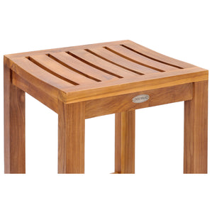 Teak Wood Santa Monica Counter Stool, 24 inch