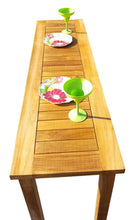 Teak Wood Santa Monica Serving Table - La Place USA Furniture Outlet