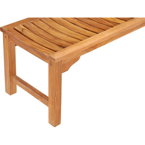 Teak Wood Santa Monica Backless Bench - 6 foot
