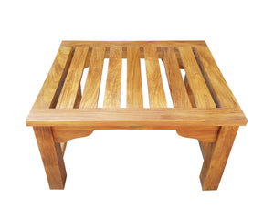 Teak Wood Santa Monica Backless Bench/Stool, 2 foot - La Place USA Furniture Outlet