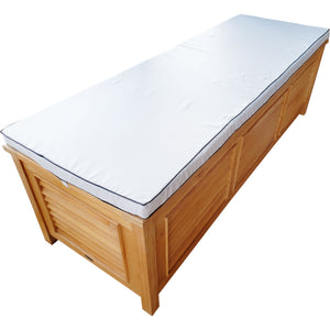 Teak Wood Manhattan Pool and Deck Storage  Box - La Place USA Furniture Outlet