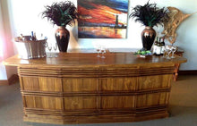 Waxed Teak Wood Large Key West Bar - La Place USA Furniture Outlet