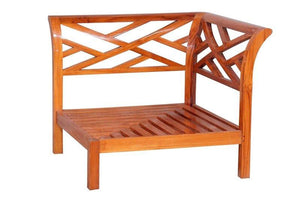 Teak Wood Long Island Corner Section - La Place USA Furniture Outlet