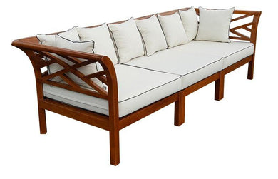 Teak Wood Long Island Sectional, 3 Pieces - La Place USA Furniture Outlet
