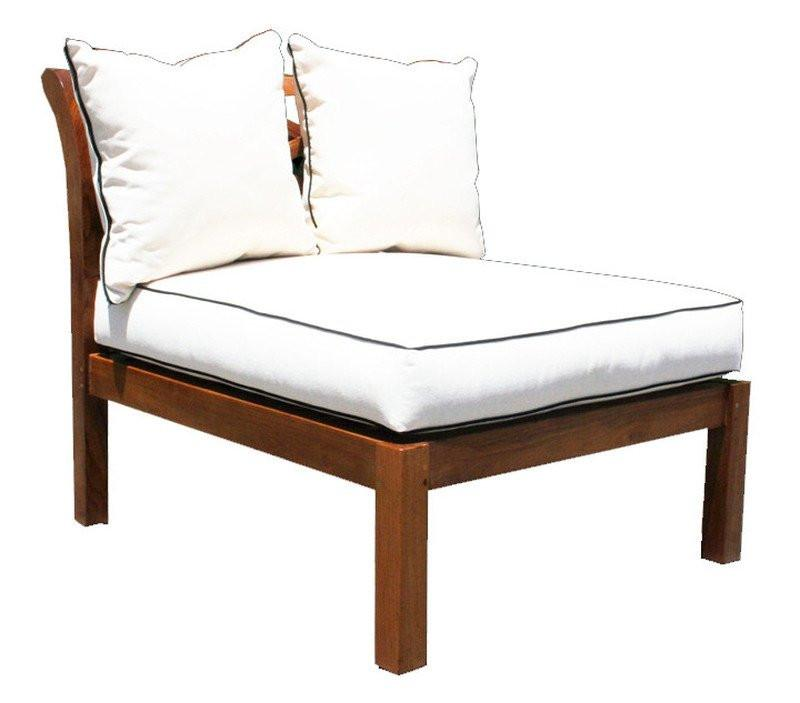 Teak Wood Long Island Armless Section - La Place USA Furniture Outlet