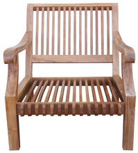 Teak Wood Deep Seating Patio Lounge Chair with Cushion - La Place USA Furniture Outlet