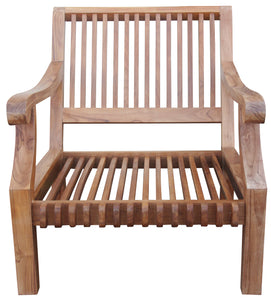 Teak Deep Seating Patio Lounge Chair with Cushion - La Place USA Furniture Outlet
