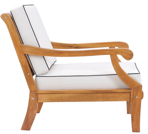 Teak Wood Castle Deep Seating Patio Lounge Chair with Cushion - La Place USA Furniture Outlet