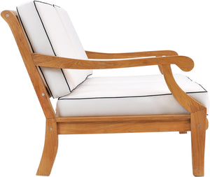 Teak Wood Castle Deep Seating Patio Love Seat With Cushions - La Place USA Furniture Outlet