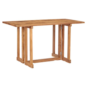 Teak Wood Hatteras Rectangular Folding Patio Table, 56 x 28 Inch