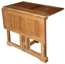 Teak Wood Hatteras Square Folding Patio Table, 35 Inch - La Place USA Furniture Outlet