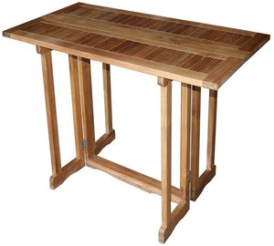 Teak Wood Hatteras Rectangular Folding Bar Table, 56 x 28 Inch - La Place USA Furniture Outlet