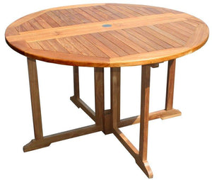 Teak Butterfly Round Folding Table - La Place USA Furniture Outlet